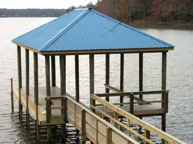 wooden boat dock - Boat Dock Design Ideas